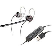 Used today LOVE IT! Plantronics C435 over ear, stereo headset is perfect for webcasts. Almost invisible & sound is flawless!