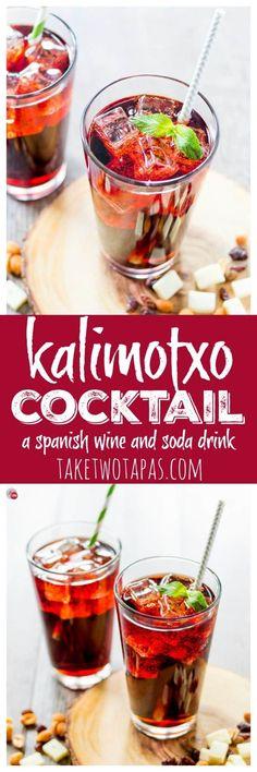 Kalimotxo Cocktail with wine and soda | Take Two Tapas