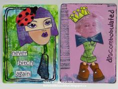 Betwixt this and that : The Art of Self Expression: Altered Playing Card week 10