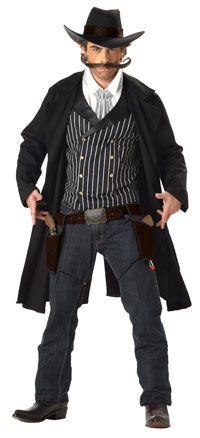 Western Cowboy Gunfighter Adult Costume - Cowboy Costumes