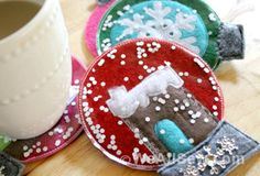 Adorable snow globe coasters are easy to make, from the folks at Bernina USA.