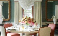 Lindsey Coral Harper - coral and teal/aqua dining room