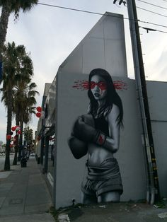 'Kid Gloves' on the corner of 14th and Wilshire in Santa Monica, California