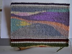 Lyn Collins,  Warp and Weft online tapestry weaving class with Rebecca Mezoff