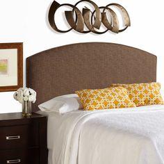 Humble + Haute Bingham Queen Size Dark Chocolate Curved Upholstered Headboard (Dark Chocolate), Brown