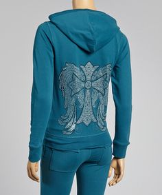 Another great find on #zulily! Teal Cross Hoodie & Lounge Pants by Sweet Girl #zulilyfinds