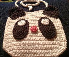 Panda baby bib by KitandaKreations on Etsy