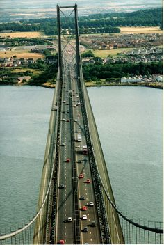 Forth Road Bridge, Edinburgh, Scotland.  We spend an amazing week on the Firth of Forth, just across this bridge, in the Kingdom of Fife.