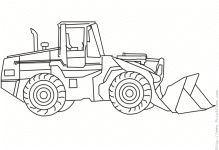 Loader Good Place For Vehicles Coloring Pages
