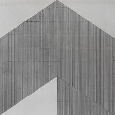 Obverse Form (2011) acrylic/enamel on aluminium 40x40cm