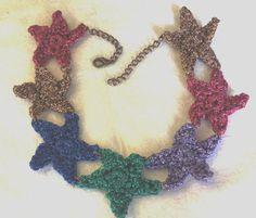 Estrellas multicolor collar de lame
