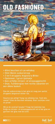 Old Fashioned: de cocktail met whisky Cocktails, Drinks, Whisky, Food, Craft Cocktails, Drinking, Beverages, Essen, Cocktail