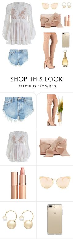 """""""Untitled #1049"""" by dbellz ❤ liked on Polyvore featuring OneTeaspoon, Zimmermann, Oscar de la Renta, Charlotte Tilbury, Quay, Witchery, Speck and Christian Dior"""