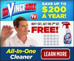 Invinceable All In One Cleaner Dissolvable Powder | New As Seen On TV Products