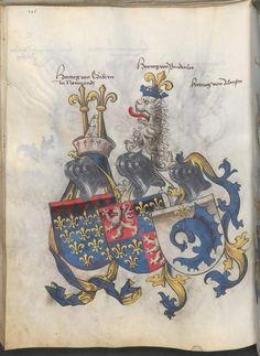 Grünenberg, Konrad: Das Wappenbuch Conrads von Grünenberg, Ritters und Bürgers zu Constanz um 1480 Cgm 145 Folio 111