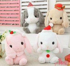 Plush doll 1pc 40cm cartoon sweet Christmas hat Bonny bunny rabbit soft hold animal home decoration stuffed toy baby gift
