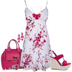 White & Pink Floral Sundress