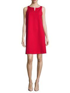 Armani Collezioni Gabardine Stretch Shift Dress