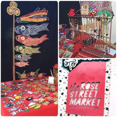 What a glorious day to be debuting at @therosestmarket! 2 more hrs of trade left. Come down and check out our wares.  #vintage #fashion #irononpatches #tribalearrings #noveltyearrings #rosestmarket #melbourneshopping #melbourne #fitzroy #melbournetodo #dresses #frocks #madeinjapan #koenjivintage #marketlyf #preloved #recycle #sustainablefashion