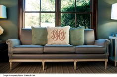 monogram pillows by kyle bunting