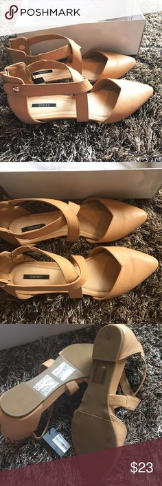 NWT Pointy Toed Flats sz 9 Brand new in box ( box has stuff on it from moving around ) flats from forever 21 size 9. Forever 21 Shoes Flats & Loafers