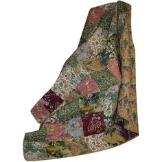 Greenland Home Antique Chic Quilted Patchwork Throw-Multi ($32) ❤ liked on Polyvore featuring home, bed & bath, bedding, blankets, fillers, throws, decor, quilted patchwork throw, paisley throw blanket and rosette blanket