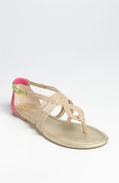I love these leather sandals. Perfect to wear with a sun dress this summer