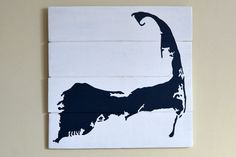 Cape Cod Silhouette Reclaimed Wood Sign Cranberry Collective