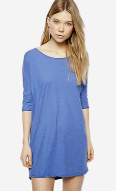 Made from 100% pure cotton. Soft touch jersey fabric. Round neckline. Zip back fastening. Oversized f...