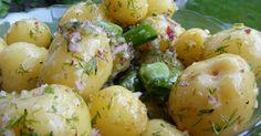 Potatissallad med vinägrett 1- kg- färskpotatis  200- gram- sockerärter eller sugar snaps  1- st- rödlök  1.5- knippe- dill  undefined- Vinägrett  2.5- msk- flytande honung  4- msk- vit balsamvinäger, ca vit 1- dl- olivolja  0.75- tsk- flingsalt  1- krm- svartpeppar eller valfri pepparmix - Fav favs