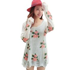 Imixcity Hollow Holes Knitwear Sweater Vintage Rose Flower (White) Imixcity http://www.amazon.com/dp/B00GFCFO76/ref=cm_sw_r_pi_dp_Gso5tb1QVSRHY