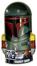 Star Wars Boba Fett Dome Round Tin Coin Bank
