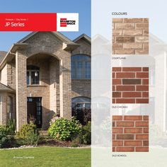 Brampton Brick JP Series brings clay bricks a touch of tradition with modern strength and durability, featuring deep hues and softly rounded corners to accentuate any home or business Brick Yard, Round Corner, Backsplash, Old School, Toronto, Strength, Old Things, Palette, Clay