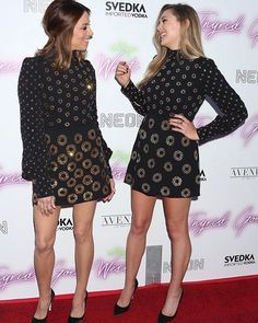 """Marc Jacobs so nice they wore it twice. Aubrey Plaza and Elizabeth Olsen at the """"Ingrid Goes West"""" premiere last night. #wwdeye  via WOMEN'S WEAR DAILY MAGAZINE OFFICIAL INSTAGRAM - Celebrity  Fashion  Haute Couture  Advertising  Culture  Beauty  Editorial Photography  Magazine Covers  Supermodels  Runway Models"""