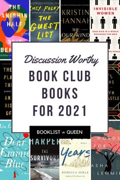 Looking for book club recommendations for the new year? Just choose one of these top book club books for 2021.