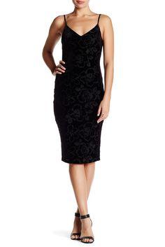 Image of Jessica Simpson Velvet Flower Slip Dress