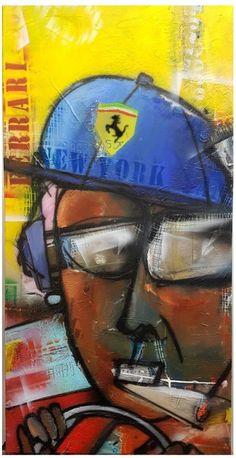 Amo la mia Ferrari Patrick van Haren, schilderij van Patrick van Haren, Patrick van Haren | Abstract | Modern | Kunst