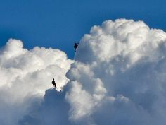 climbing the clouds.