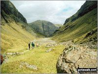 Walk route map h133 Coire Gabhail (The 'Lost Valley' of Glen Coe) The Pass of Glencoe, Allt Corrie Gabhail, Coire Gabhail (The 'Lost Valley' of Glen Coe), The Pass of Glencoe Loch Leven to Connel Bridge, Strath of Orchy and Glen Lochy,   Highland,  Scotland