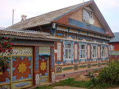 Виртуальный Музей Ворот России: Резные ворота. Можга, Удмуртия