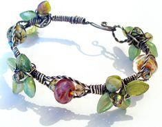 I can see many variations with this wire and bead bracelet.  I would like to try these techniques.