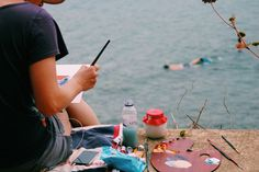 Artist by the sea...