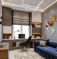 Home Office Setup, Home Office Space, Office Interior Design, Office Interiors, Home Room Design, House Design, Modern Home Offices, Snug Room, Girl Bedroom Designs
