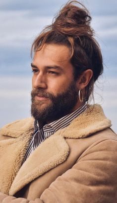 14 Hottest Man Bun and Beard Combinations Man Bun Hairstyles, Cool Hairstyles For Men, Hairstyle Look, Summer Hairstyles, Beard Styles For Men, Hair Game, Sharp Dressed Man, Stylish Men, Bearded Men