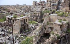 Hamidiya district of the Syrian city of Aleppo (10 April 2015)