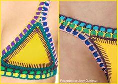 Biquíni Neon de Crochê   Josy Queiroz