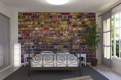 PHOTOWALL / Colorful Brickwall (e20751) | 輸入壁紙専門店 WALPA