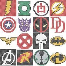 Resultado de imagem para Superhero Cross Stitch Patterns
