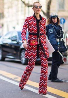 Best dressed at Milan Fashion Week #prada #red Lucea Row