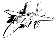 Fighter Jet Coloring Page : Printables for Kids – free word search ...